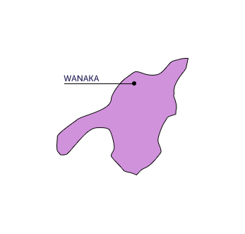 Lake Wanaka map